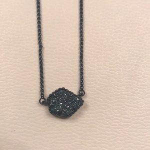 Kendra Scott Tessa necklace black/ blue druzy